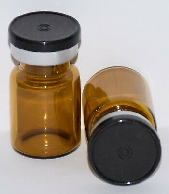 Usp 5 Ml Amber Sterile Vial With Any Color Plain Flip Cap Seal Qty. 5