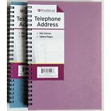 """PlanAhead Address Telephone book #72456 with Tabbed Pages 6"""" X 8.25"""" colors vary"""