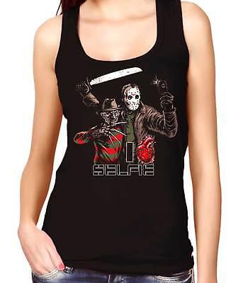 Camiseta Mujer Tirantes freddy krueger jason i love selfey women's tank top  (Freddy Krueger Top)