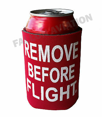 """Remove Before Flight"" Beverage Cooler - Collapsible Pocket Coozie - RBF"