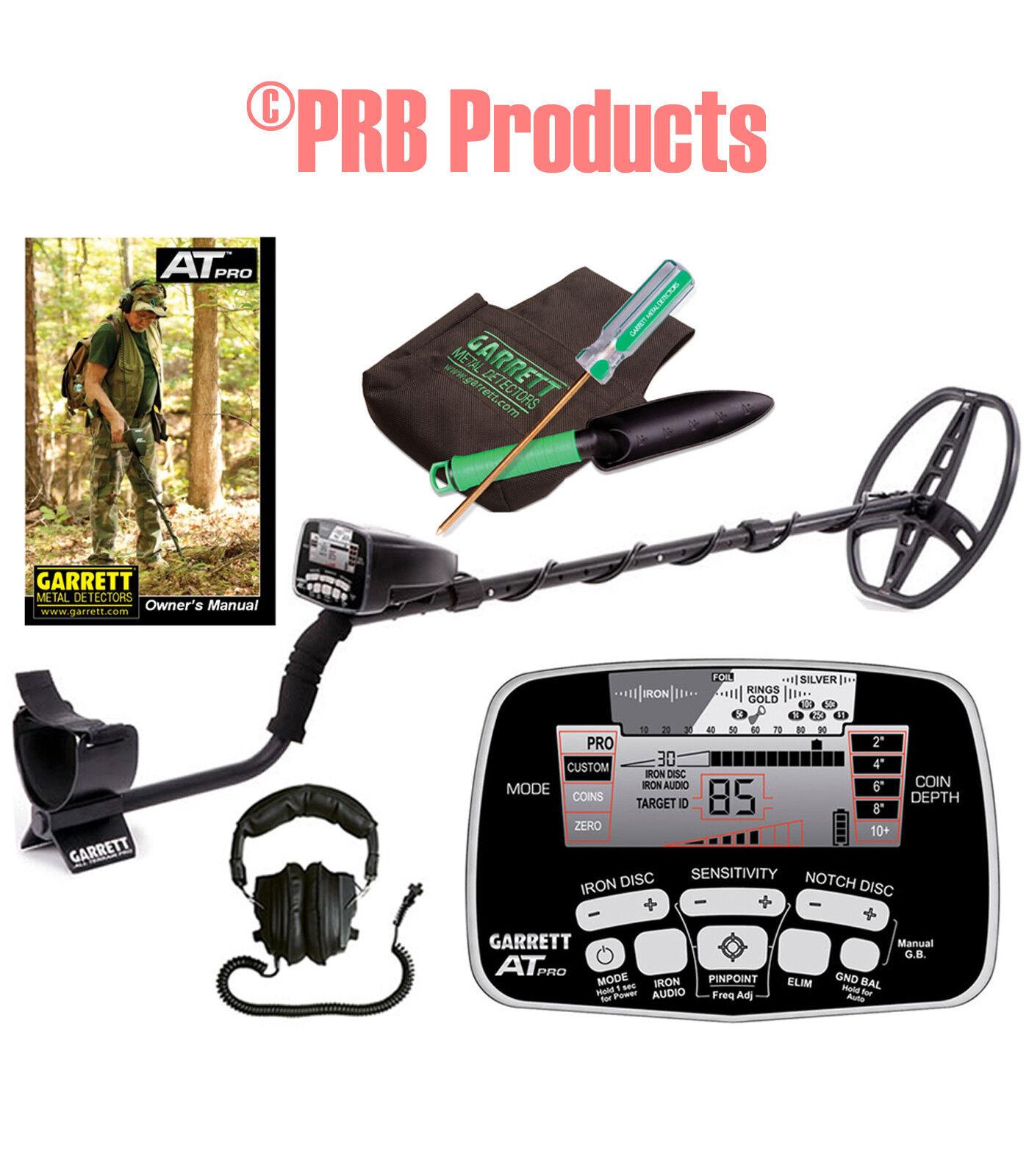 Garrett AT Pro Metal Detector with Treasure Digging Kit Garet 1140460 1601070