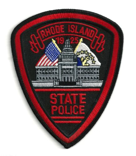 RHODE ISLAND STATE POLICE - SHOULDER PATCH - IRON OR SEW-ON PATCH