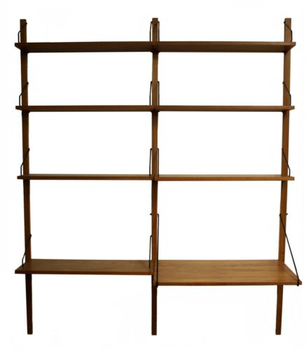 Mid Century Modern Poul Cadovious Danish Wall Unit Bookshelf Scandinavian 1960s