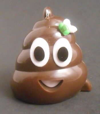 CUSTOM MINI Ornament Made From Smiling Stinky Poop Emoji NEW Poo Dung Fly (Fly Emoji)