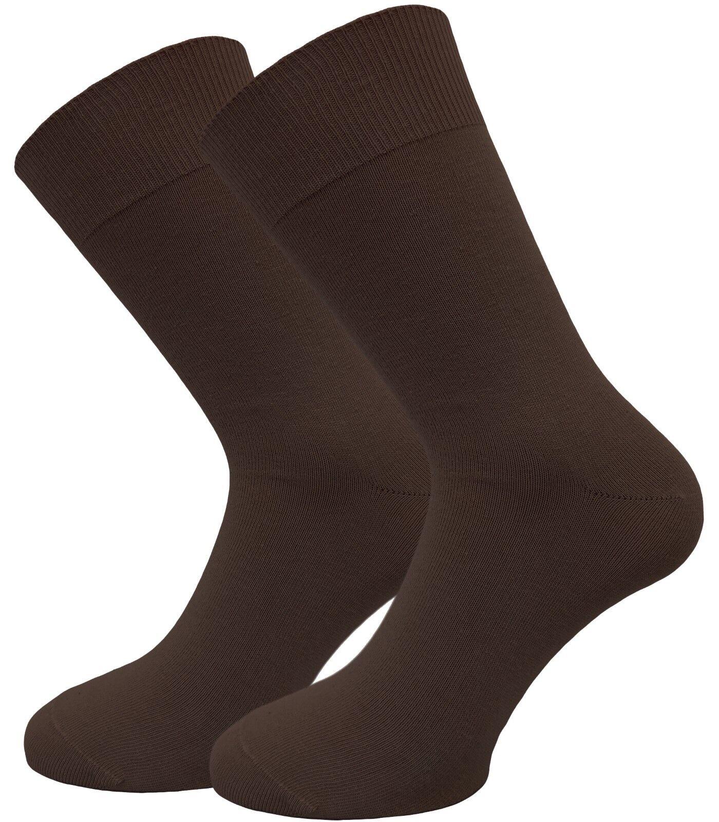 100% Baumwolle - Socken für Männer in beige und braun handgekettelt Komfortbund