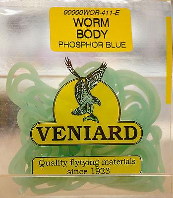 WORM BODY Squirmy Worm Veniard Killer Material PHOSPHOR BLUE billiger (Billig Bodys)