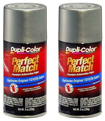 2 Pack Perfect Match Automotive Paint Toyota Phantom Grey Pearl 8 oz Aerosol Can