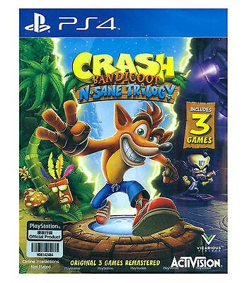 Crash Bandicoot N  Sane Trilogy Playstation Ps4  2017  English Japanese