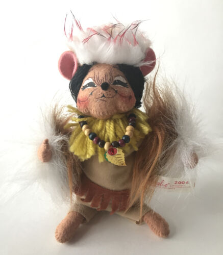 Annalee 2004 Collection Indian Pilgrim Mouse Thanksgiving Fall - $17.50