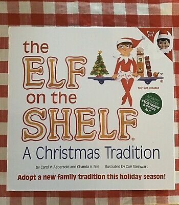 NEW Elf on The Shelf A Christmas Tradition Doll & Book Box Set Girl BLUE EYES