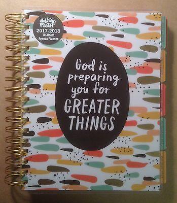 Illustrated Faith 18 Month Agenda Planner 2017 2018