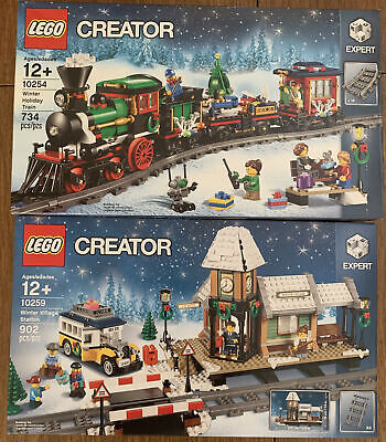 LEGO Winter Village Station & Winter Holiday Train Sets 10254 & 10259 NEW Sealed