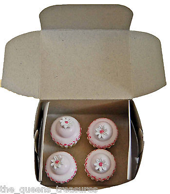 "Doll Food Made For 18"" American Girl Kitchen Accessories 4 CUPCAKES +BAKERY BOX  on Rummage"