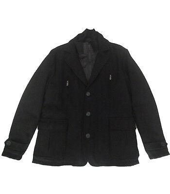 Chaquetas hombre , abrigo de paño de Takhiro , negro , talla...