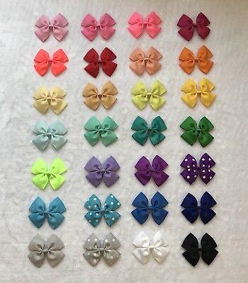 56pcs Baby Toddler Girl Ribbon Hair bows-3.5 inch, 28 color/ 2pcs each (No Clip)