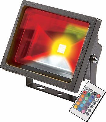 Knightsbidge IP65 20W Negro RGB Luz LED Foco C/ Con Control Remoto...