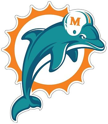 Miami Dolphins NFL Logo Vinyl Decal Sticker - You Pick Size - Dolphins Nfl