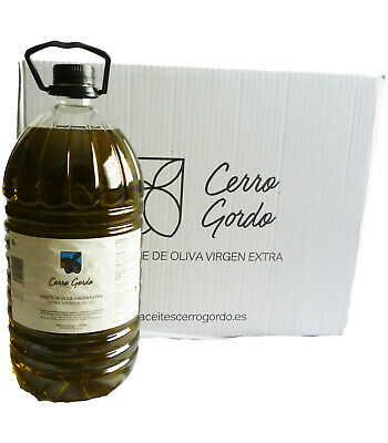 Aceite de oliva Virgen Extra Cerro Gordo, categoria superior, pack de 3...