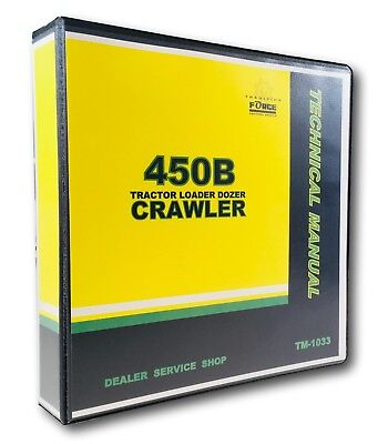 Technical Service Manual John Deere 450b Crawler Tractor Shop Book
