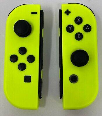 Genuine Nintendo Switch - Joy-Con (L/R) Controllers - Neon Yellow (VG)