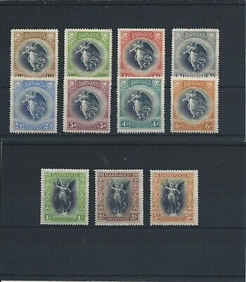 BARBADOS 1920-21 VICTORY SET OF ELEVEN (NO 1d MSCA) MM SG 201/211 CAT ~£135