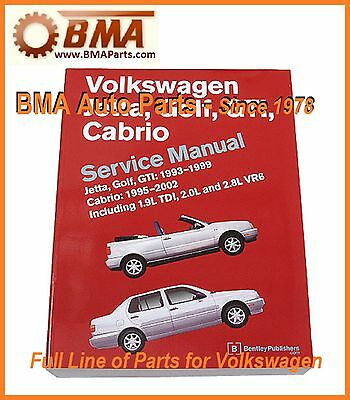 NEW VW VW Jetta Golf GTI  93-99 Cabrio 95-02 Bentley Repair Manual  # VG99