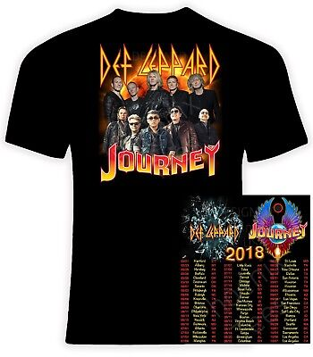 Def Leppard And Journey 2018 T Shirt  Sizes S 6X