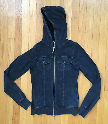 Hard Tail Forever Stretch Hoodie-Zip Front Sweatshirt -Women's Size S -Navy Blue Forever Womens Zip Hoodie