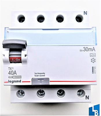 Legrand FI-Schutzschalter TX3 40A/0,03A 4-polig FI-Schalter 40A 30Ma 4P 411765