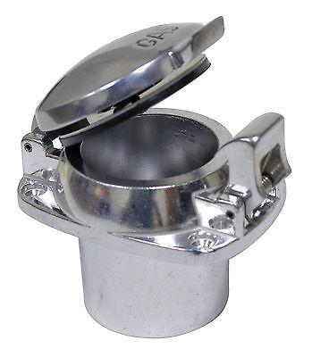 Polished Aluminum Flip Top Gas Cap Fuel Fill rods UTV, boat deck fill filler cap Deck Fill Flip Cap