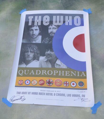 The Who Quadrophenia Signed Lithograph Poster Tour 2013 Las Vegas, NV
