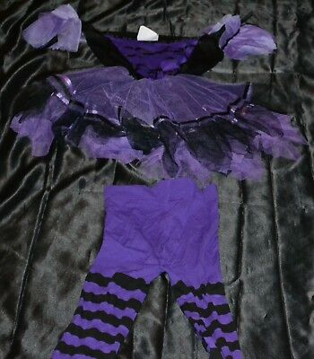 Little Purple Witch Halloween Costume Fits Kids Size 8-9-10 Dress Girls Black - Kids Witch Halloween Costume