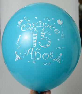 15 Anos Party Decorations (24 QUINCEANERA  GLOBOS PARTY FAVOR DECORATION BLUE 15 ANOS BALLOONS RECUERDOS)