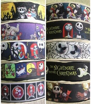 "Mix & match 10 Yards Nightmare Before Christmas 1.5"" Ribbon Choose Any -"