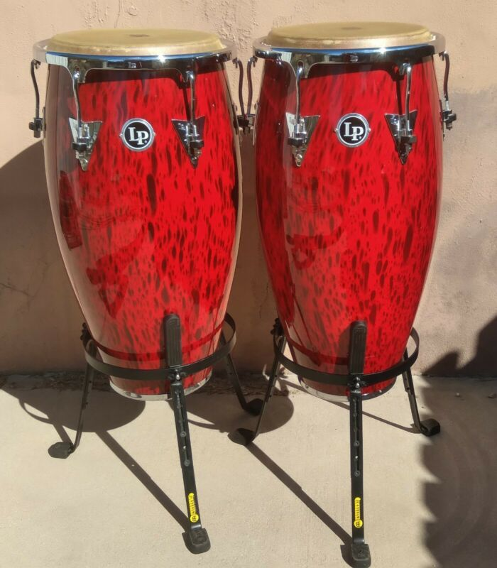 Latin Percussion Conga & Tumba with Meinl Steely II stands & extra accessories