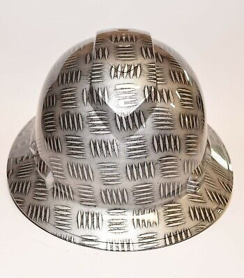 Bad Ass Custom Hard Hat Hydrodipped In Tread Plate