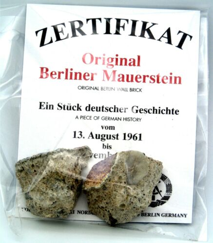 Real Piece of the BERLIN WALL with Certificate of Authenticity, Small