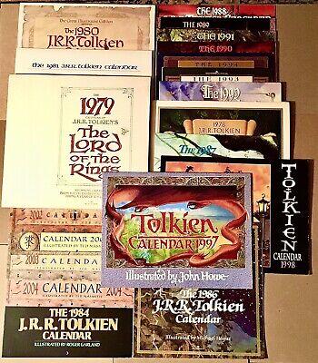 Lot: 20 Used Tolkien Calendars 1978-81 1984 1986-1994 1997 1998 2000 2002-2004