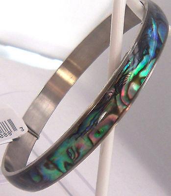 (PAUA Shell abalone Nature's 1 Bangle Bracelet 9mm Wheeler Mfg. bgb 014 NEW)