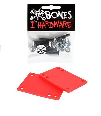 """Green Risers and 1/"""" Bolts 4mm Skateboard Riser Pads and Hardware 1//8/"""""""