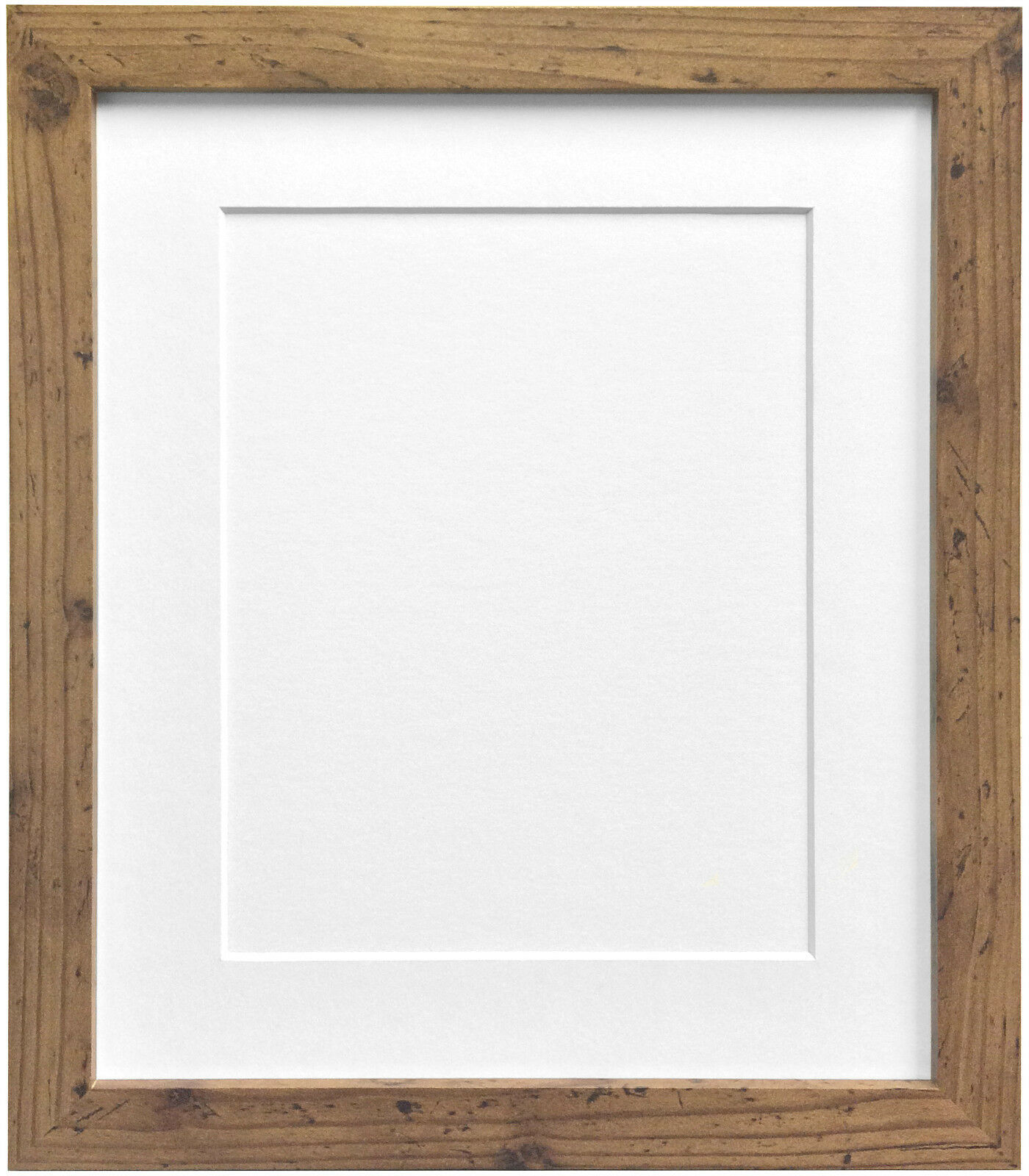 Rustic Oak Photo Picture Frames & White Black Ivory Blue Pink or ...
