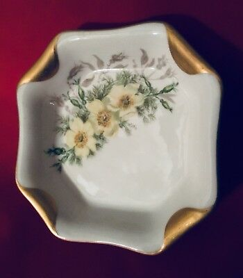 H & Co Haviland Limoges Hand-Painted Flower Napkin Fold Plate c. 1884 (1556). - Napkin Fold