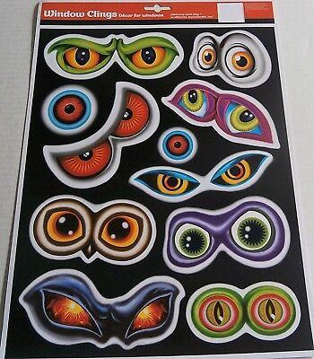 HALLOWEEN Window Cling  SCARY - Halloween Window Eyes