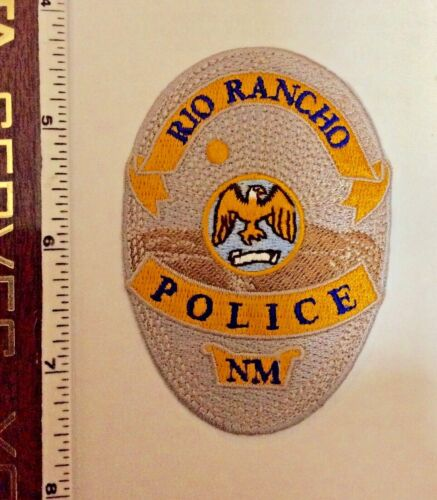Rio Rancho New Mexico Police Silver Oval Patch New