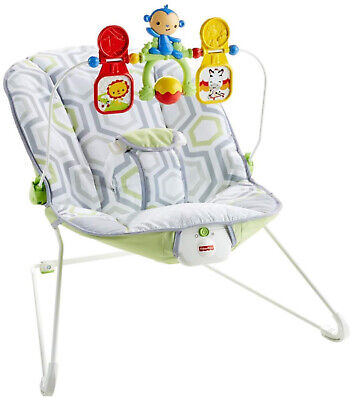 Baby's Bouncer with romovable Toy Bar Confortable Seat Calming Vibrations Chair for sale  USA