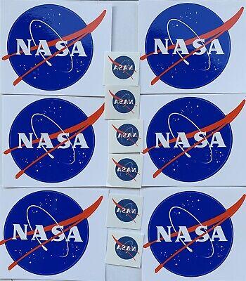 "NASA Lot of 12   6X ""meatball"" sticker + 6X temporary tattoo  NEW   Space Travel"
