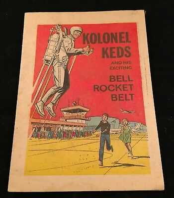 KOLONEL KEDS & HIS EXCITING BELL ROCKET BELT MINI GIVEAWAY PROMO COMIC 1965