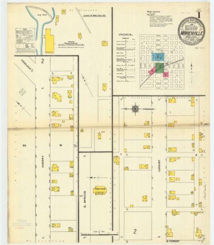 Marienville PA maps 1904.1909 Sanborn Fire insurance maps CD dssk