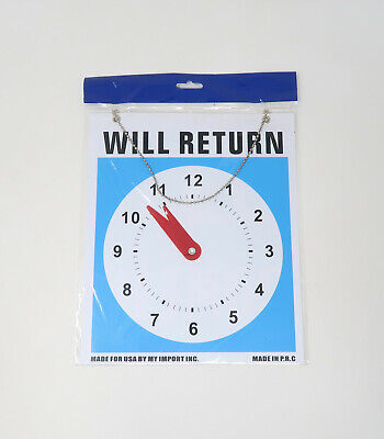 Open Come In Store Office Hours Sign Clock Will Return