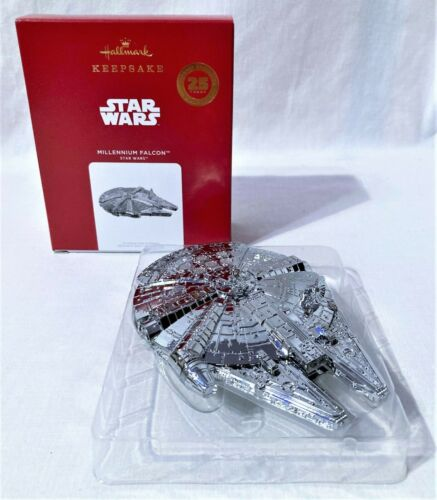 Hallmark Keepsake Ornament Star Wars MILLENIUM FALCON 2021 NIB In Hand Fast Ship